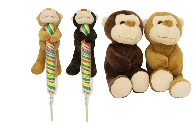 Animal Pops - Monkey 2 Assorted Colours
