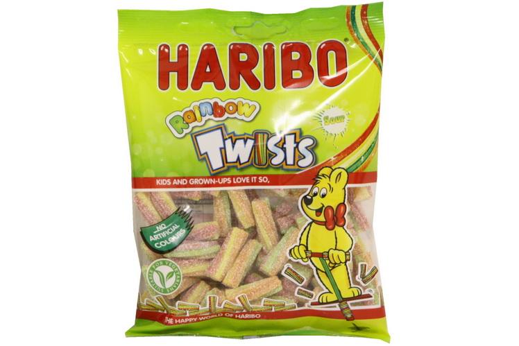 140g Mini Sour Rainbow Twists Prepack - Haribo