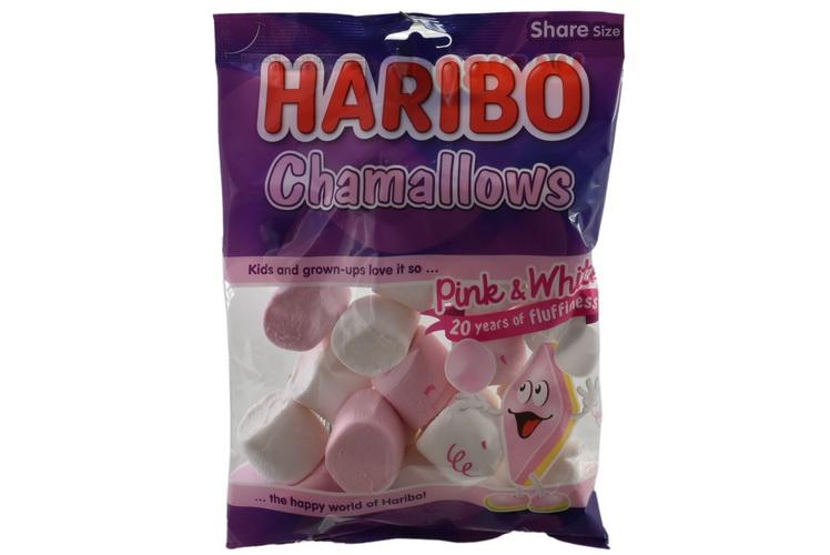 140g Pink & White Marshmallows Prepack - Haribo