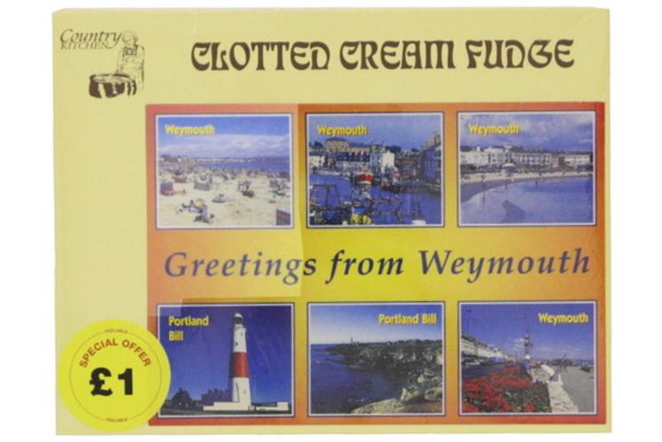 100g Clotted Cream Fudge Postcard Box