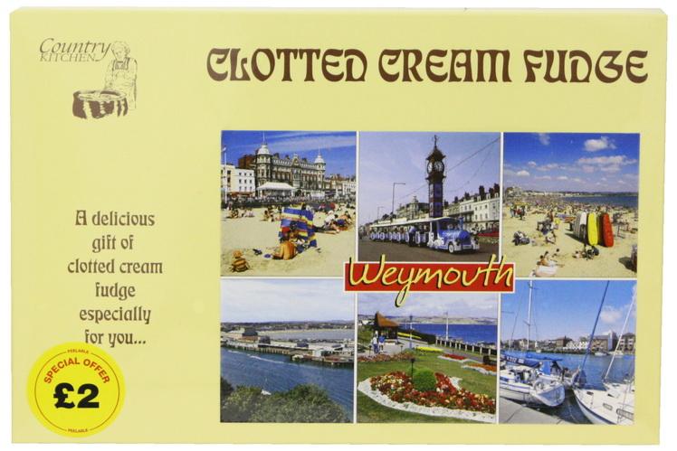 200g Clotted Cream Fudge Postcard Box