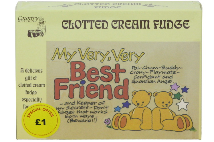100g Clotted Cream Fudge 'Best Friend' Postcard Box