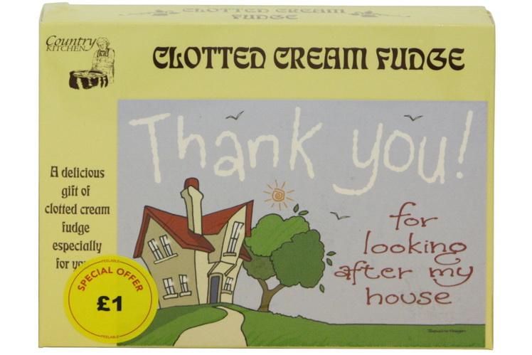 100g Clotted Cream Fudge 'Home' Postcard Box
