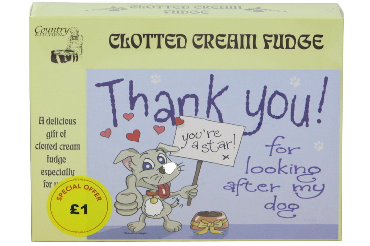 100g Clotted Cream Fudge 'Dog' Postcard Box