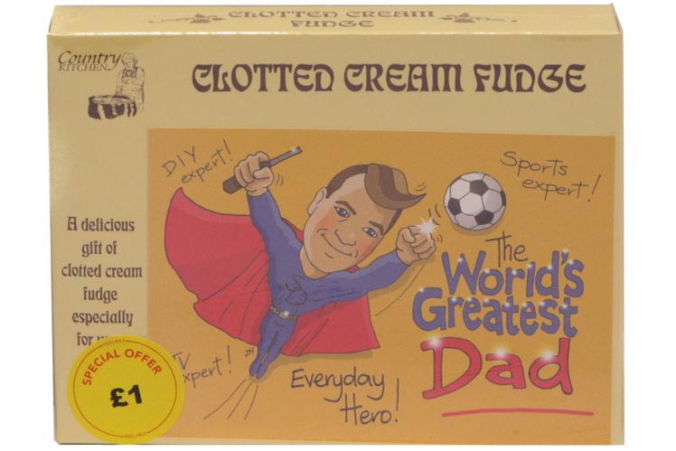 100g Clotted Cream Fudge 'Dad' Postcard Box