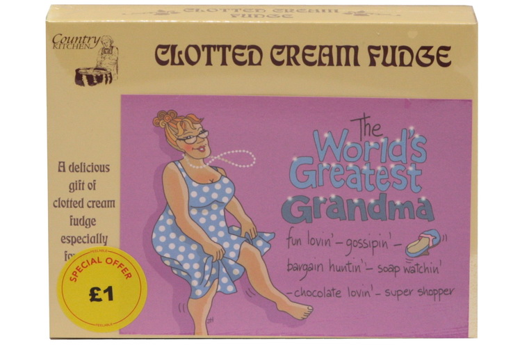 100g C/C Fudge 'Greatest Grandma' Postcard Box