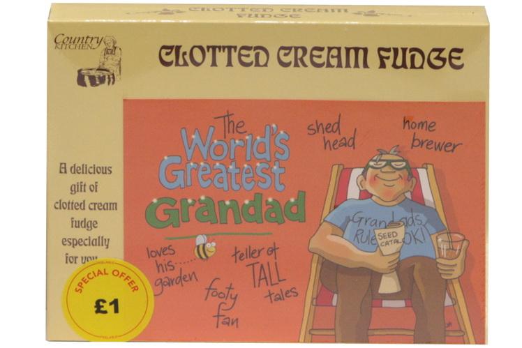 100g C/C Fudge 'Greatest Grandad' Postcard Box