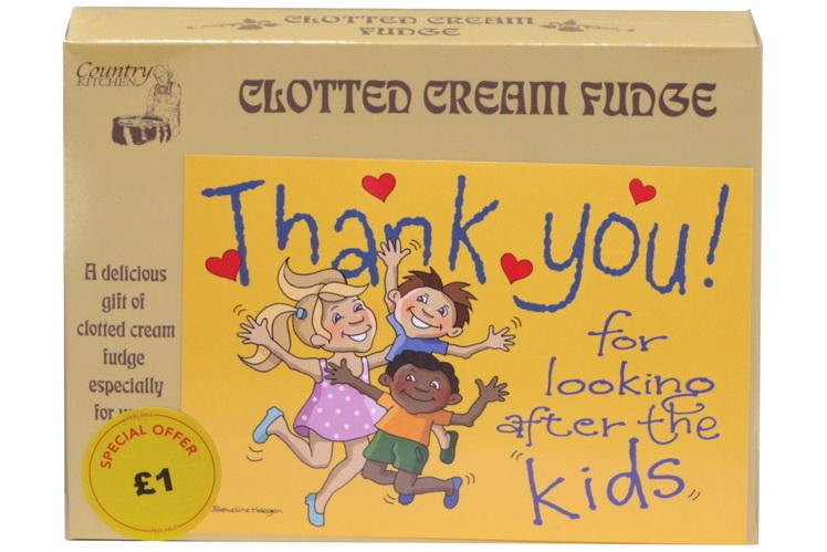 100g Clotted Cream Fudge 'Kids' Postcard Box