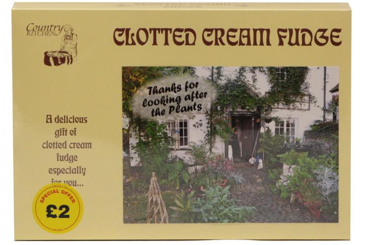 "200g Clotted Cream Fudge ""Plant"" Postcard Box"