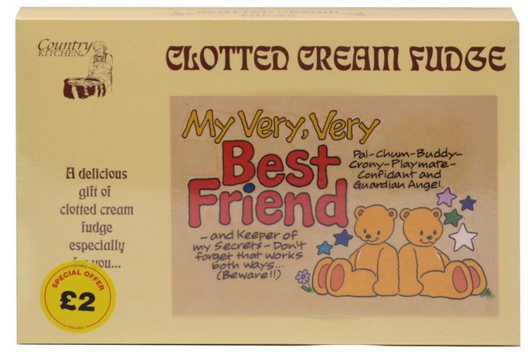"200g Clotted Cream Fudge ""Best Friend"" Postcard Box"
