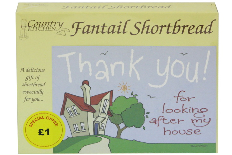 """125g """"Home"""" Biscuit Postcard Box"""