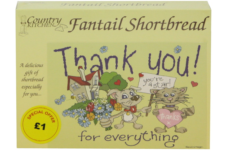 """125g """"Thank You"""" Biscuit Postcard Box"""