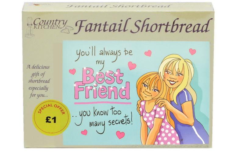 """125g """"Best Friend"""" Biscuit Postcard Box"""