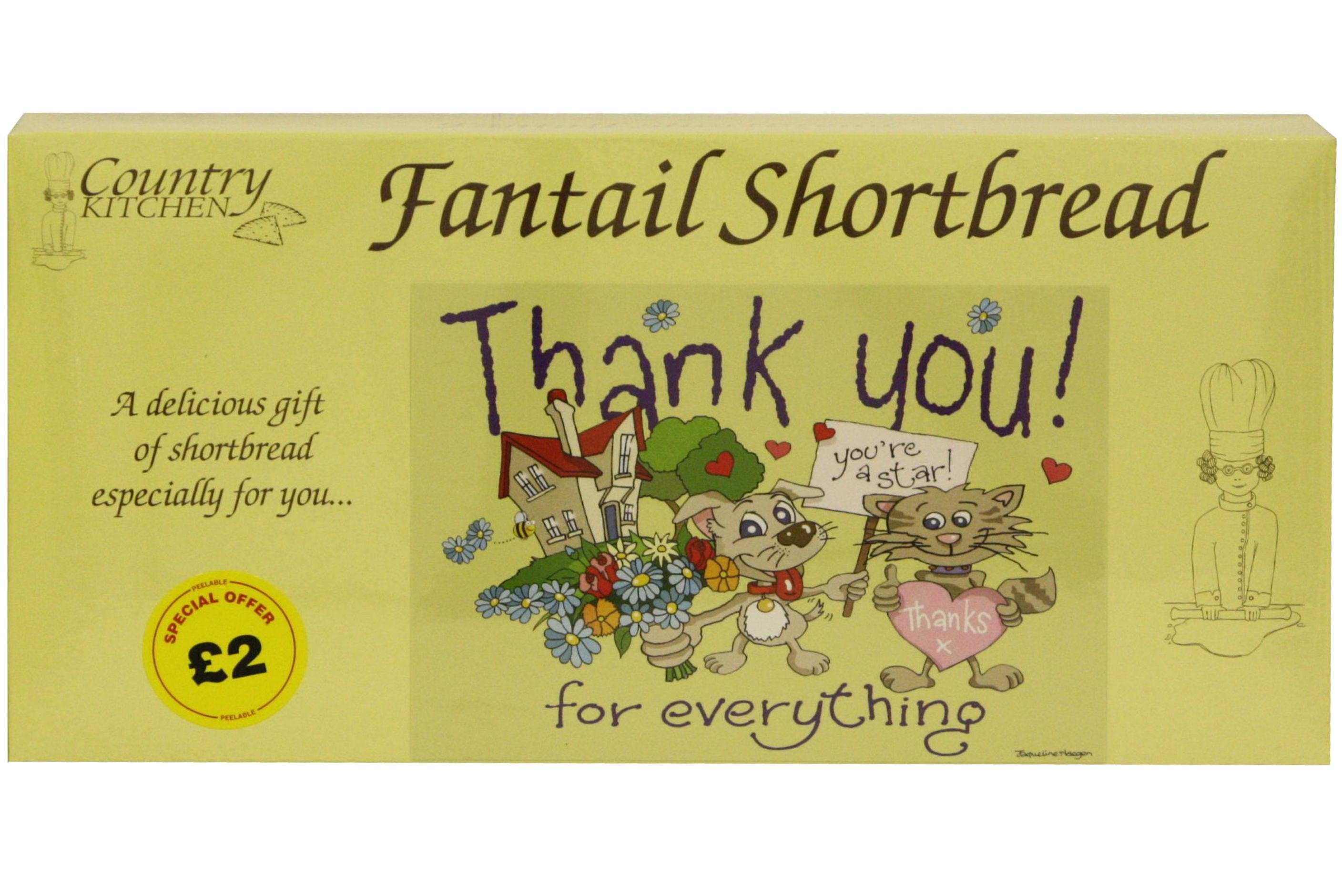 """250g """"Thank You"""" Biscuit Postcard Box"""