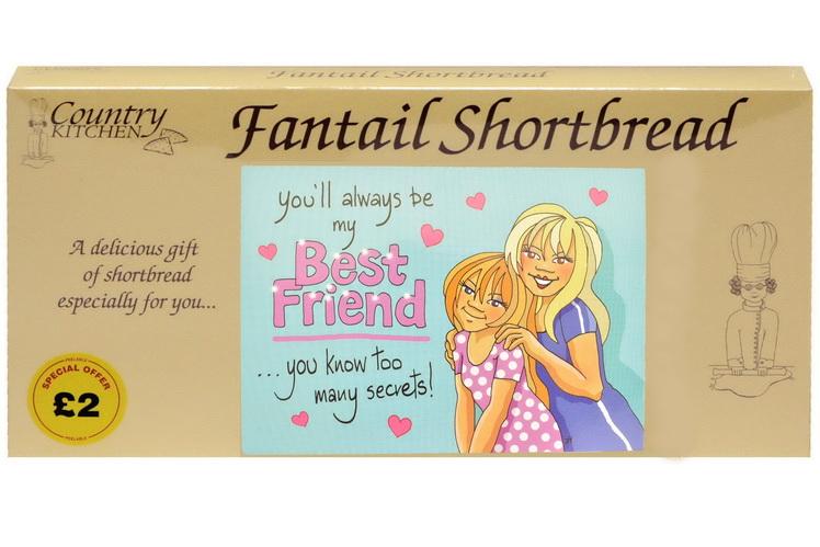 """250g """"Best Friend"""" Biscuit Postcard Box"""