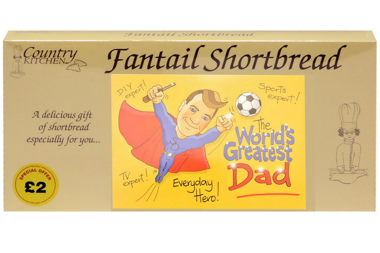 "250g ""Dad"" Biscuit Postcard Box"