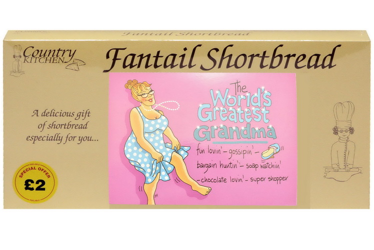 "250g ""Greatest Grandma"" Biscuit Postcard Box"