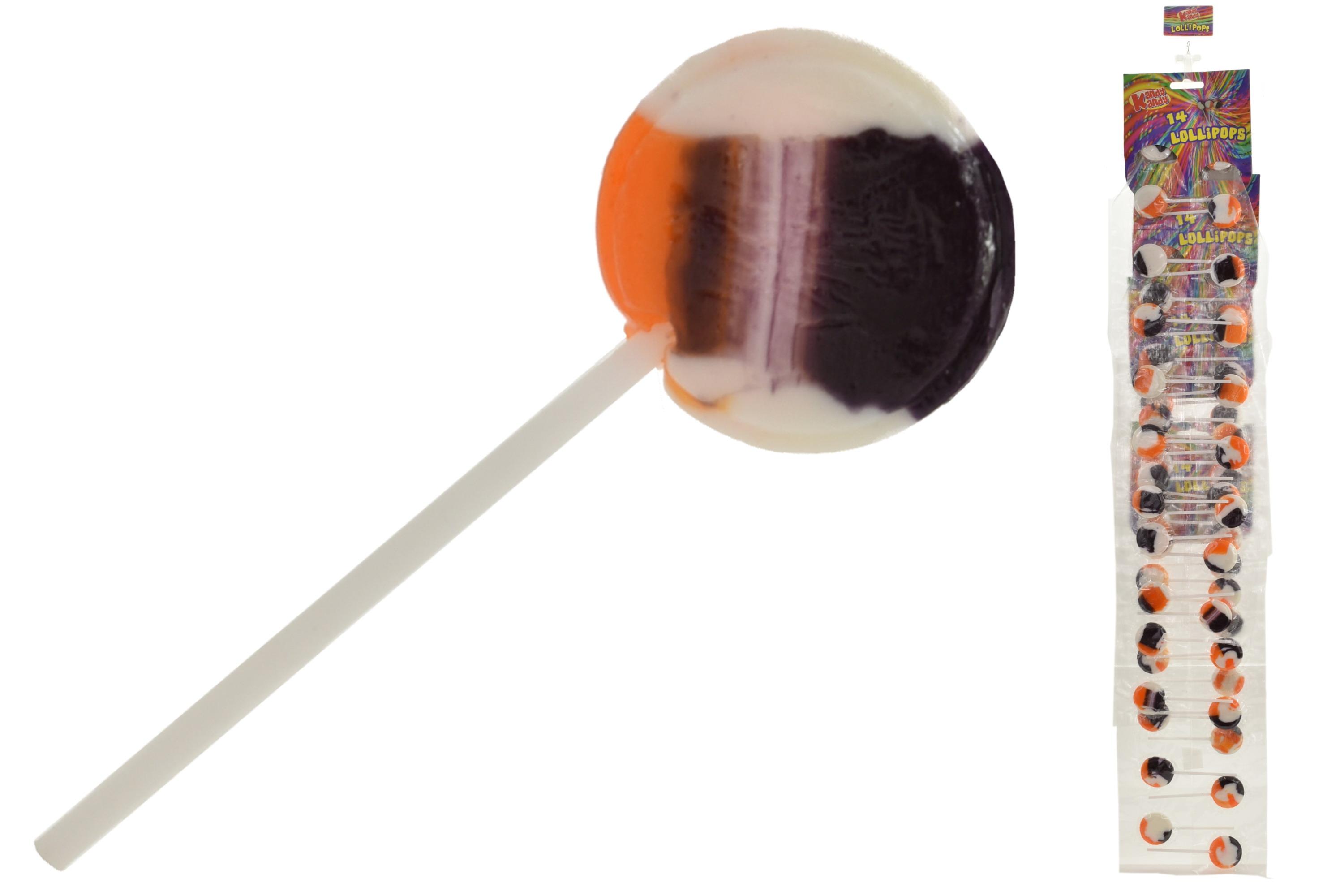 14 Round Peppermint & Malt Lollipops On Strip