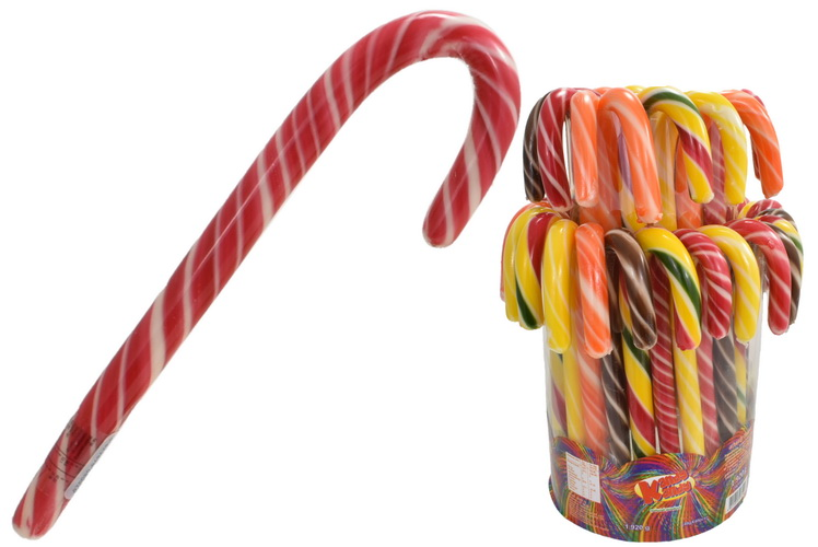 Candy Canes In Acetate Display