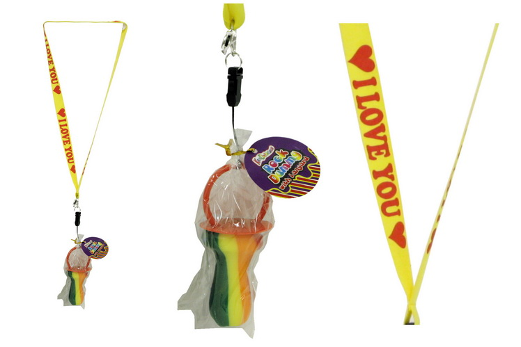 I Love You Lanyard With Rock Dummy