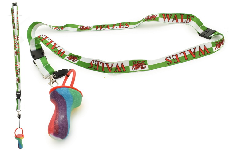 Wales Flag Lanyard With Rock Dummy