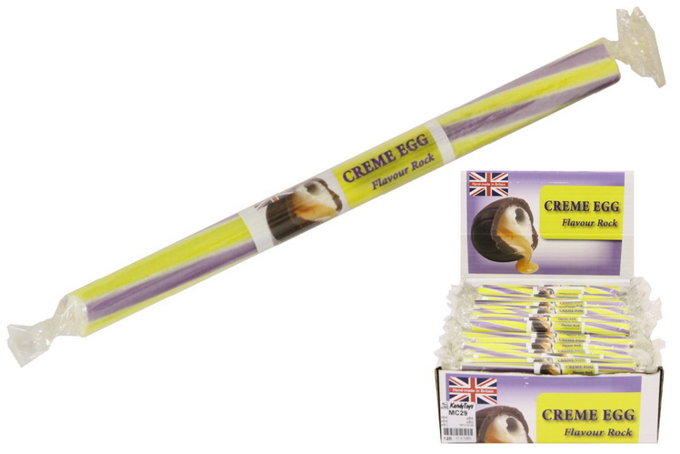 Creme Egg Flavoured Rock Sticks In Display Box