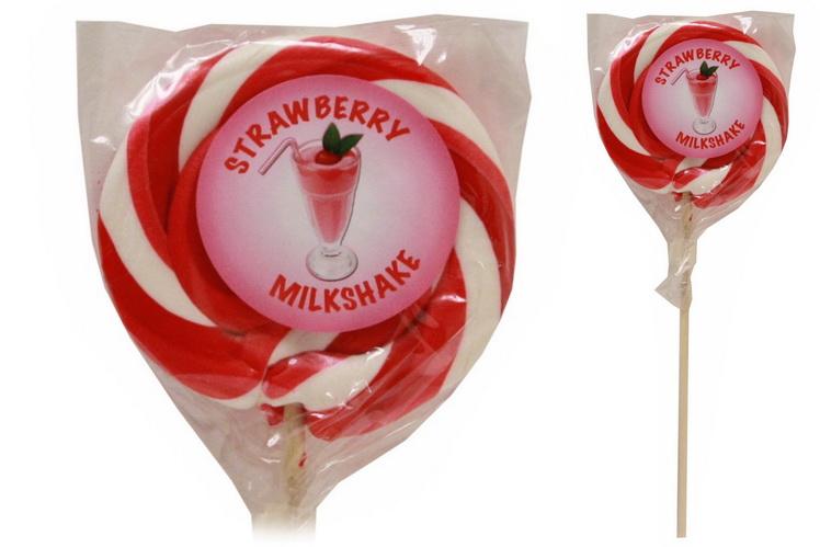 """Strawberry Milkshake"" Wheel Lollies"
