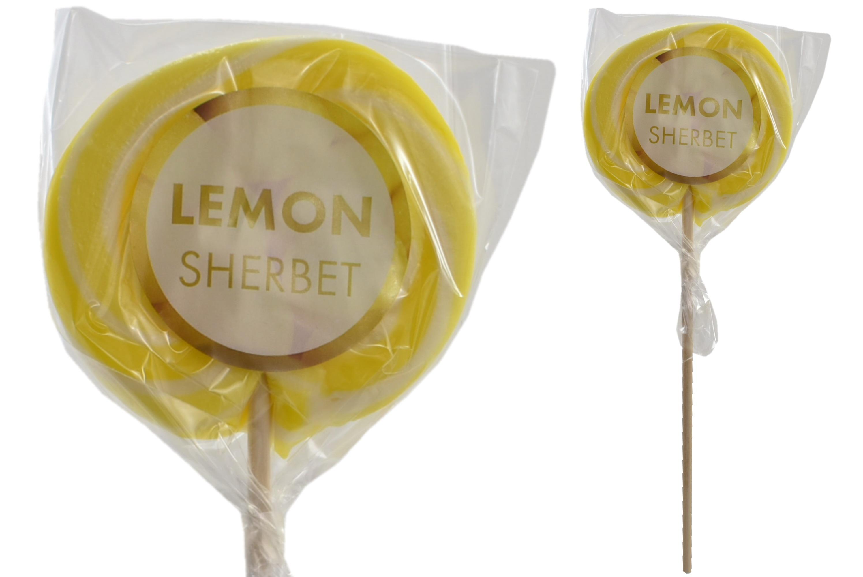 """""""Lemon Sherbet"""" Wheel Lollies"""