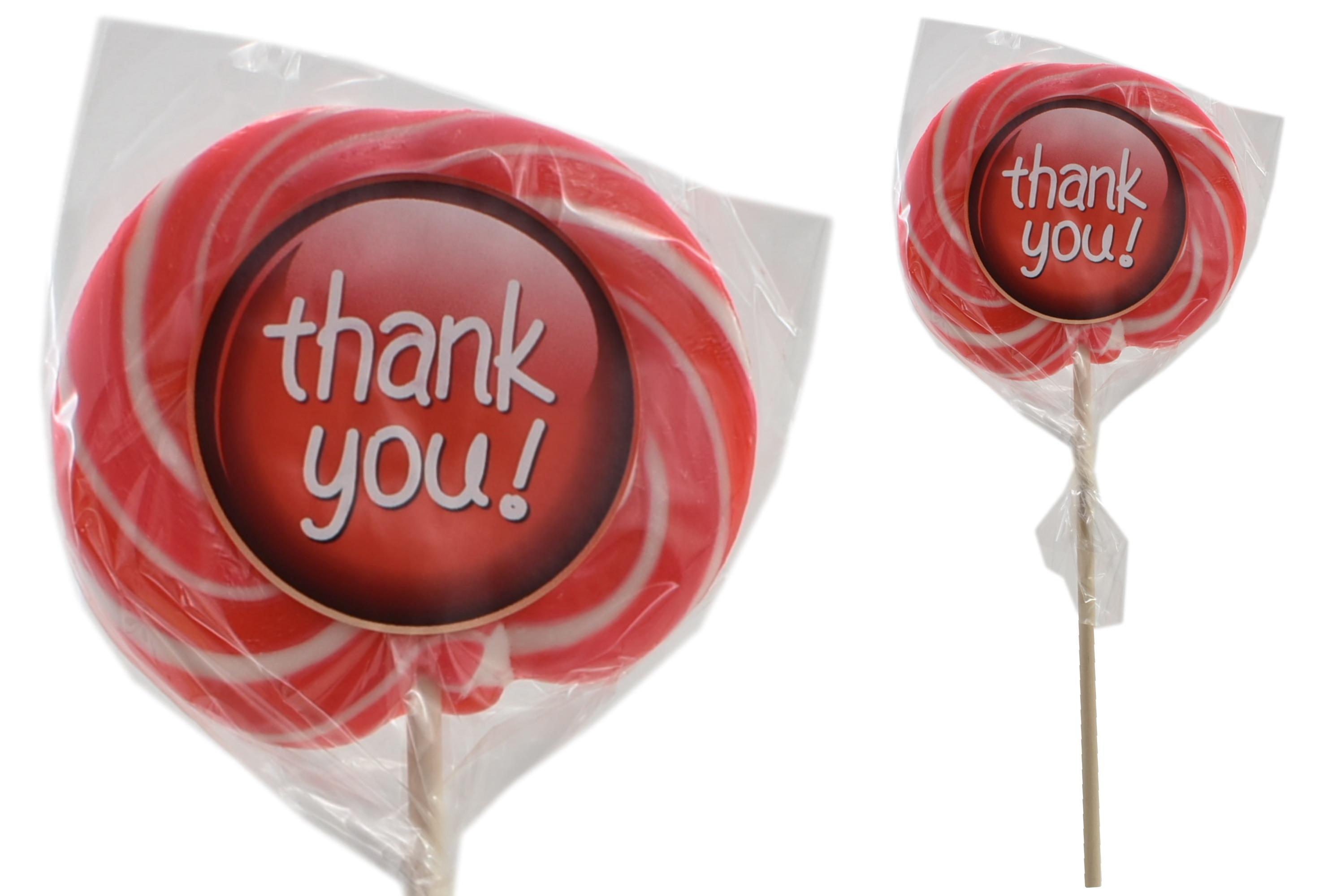 """Thank You"" Wheel Lollies"