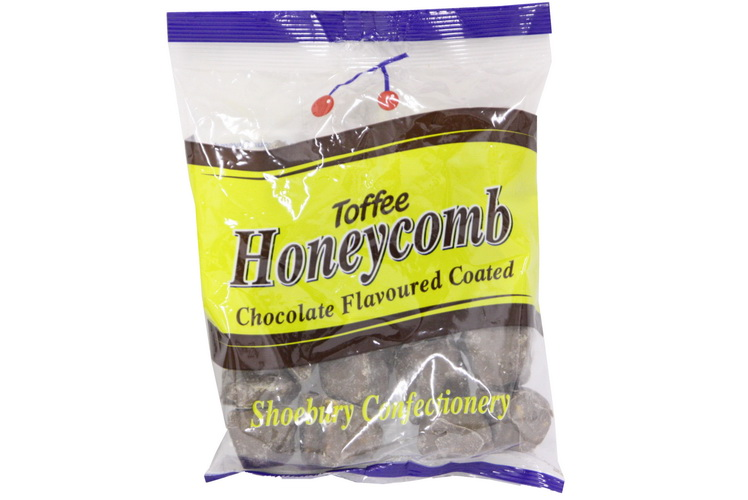 150g Bag Of Choc Flavoured Honeycomb Pieces  ** Blue **