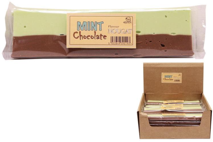 130g Mint Chocolate Flavour Nougat Bar