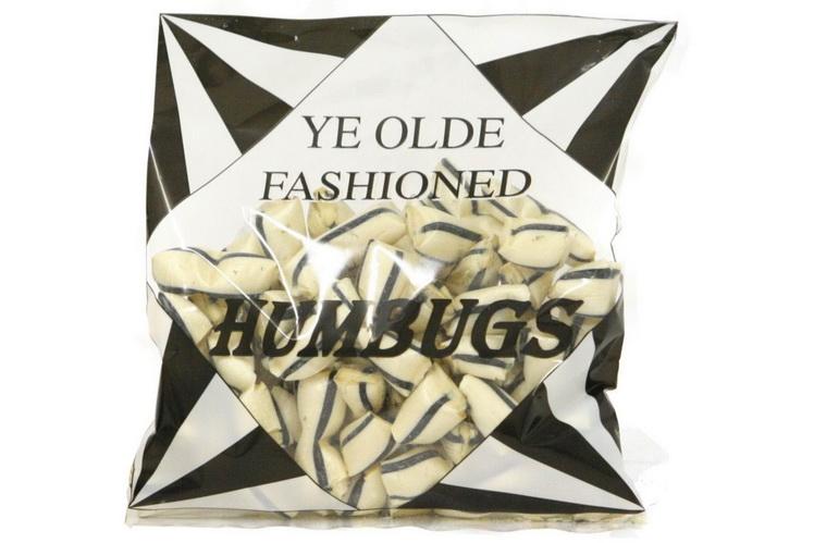 250g Bag Of Black & White Humbugs
