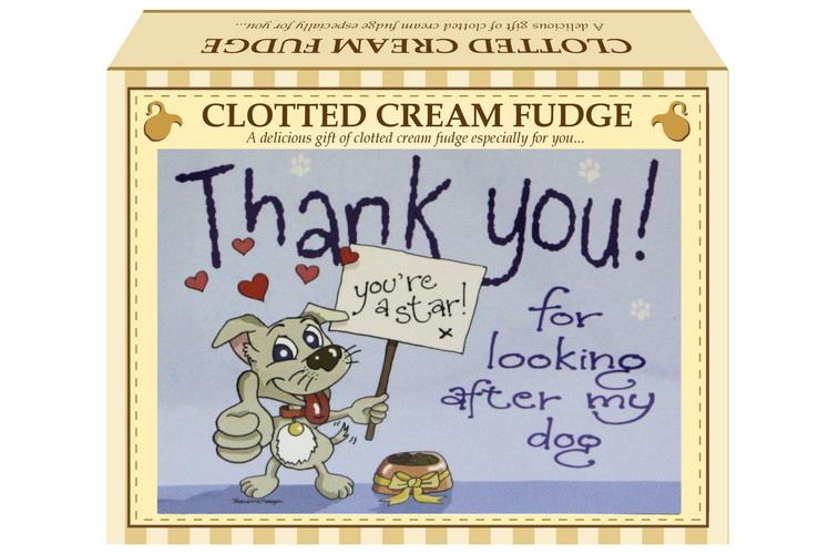 "100g Clotted Cream Fudge ""Dog"" Postcard Gift Box"