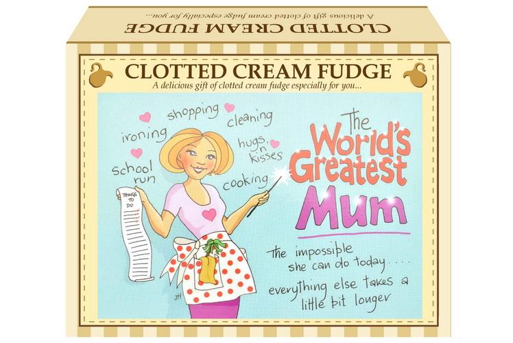 "100g Clotted Cream Fudge ""Mum"" Postcard Gift Box"