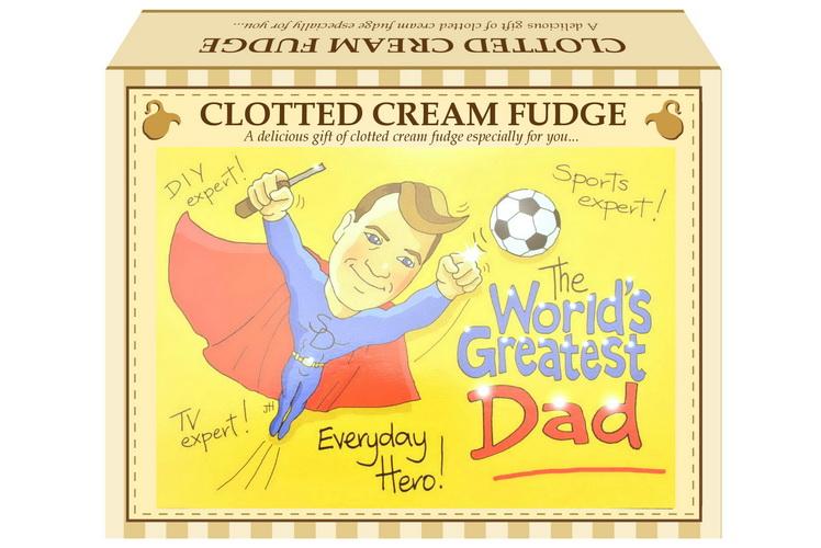 "100g Clotted Cream Fudge ""Dad"" Postcard Gift Box"