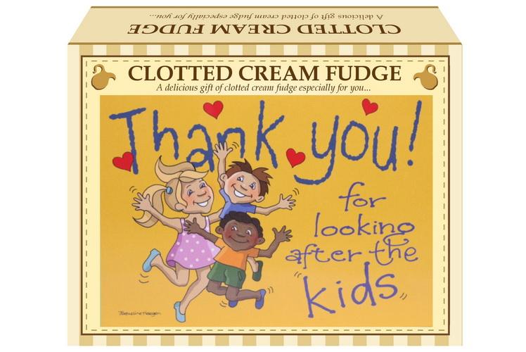 "100g Clotted Cream Fudge ""Kids"" Postcard Gift Box"