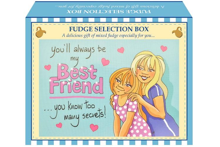 "100g Mixed Fudge ""Best Friend"" Postcard Gift Box"