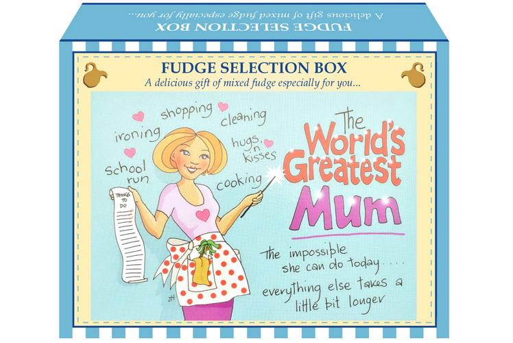 "100g Mixed Fudge ""Mum"" Postcard Gift Box"