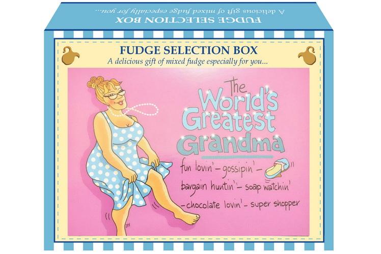 "100g Mixed Fudge ""Greatest Grandma"" Postcard Gift Box"