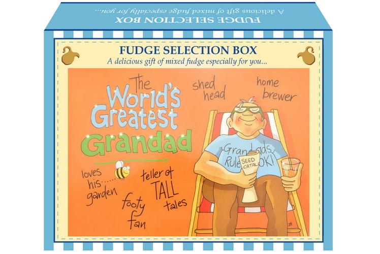 "100g Mixed Fudge ""Greatest Grandad"" Postcard Gift Box"