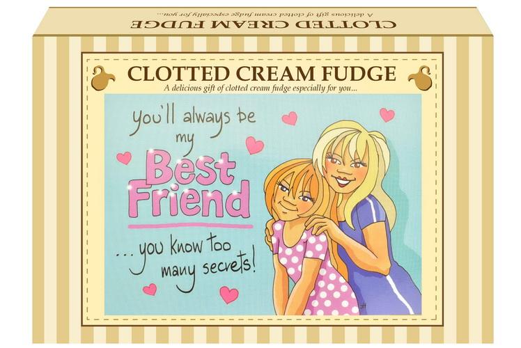 """200g C/Cream Fudge """"Best Friend"""" Postcard Gift Box"""