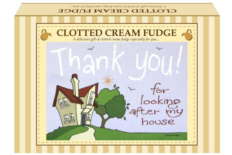 "200g Clotted Cream Fudge ""Home"" Postcard Gift Box"