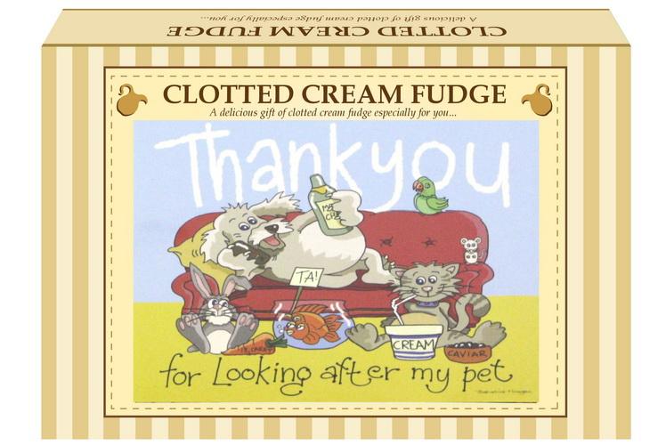 "200g Clotted Cream Fudge ""Pet"" Postcard Gift Box"