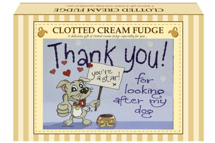 "200g Clotted Cream Fudge ""Dog"" Postcard Gift Box"