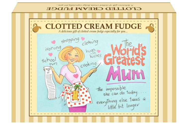 "200g Clotted Cream Fudge ""Mum"" Postcard Gift Box"