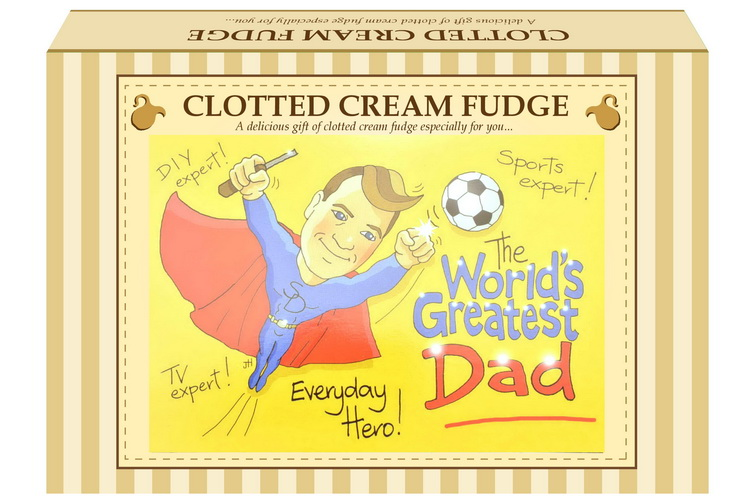 "200g Clotted Cream Fudge ""Dad"" Postcard Gift Box"