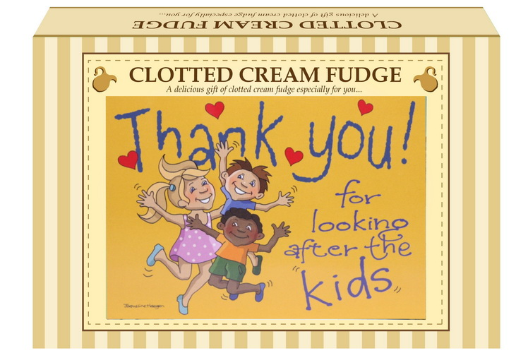 "200g Clotted Cream Fudge ""Kids"" Postcard Gift Box"
