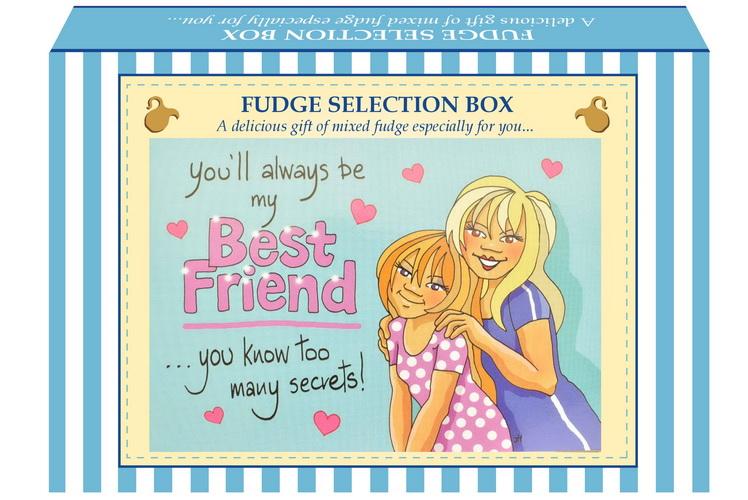 "200g Mixed Fudge ""Best Friend"" Postcard Gift Box"