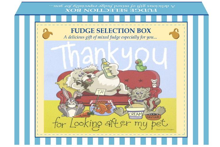 "200g Mixed Fudge ""Pet"" Postcard Gift Box"