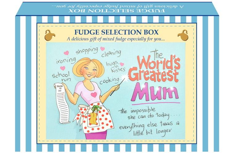 "200g Mixed Fudge ""Mum"" Postcard Gift Box"